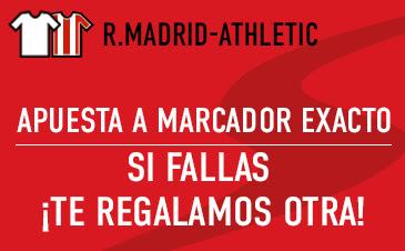 sportium bono 50 euros devolucion Liga Real Madrid vs Athletic 13 febrero