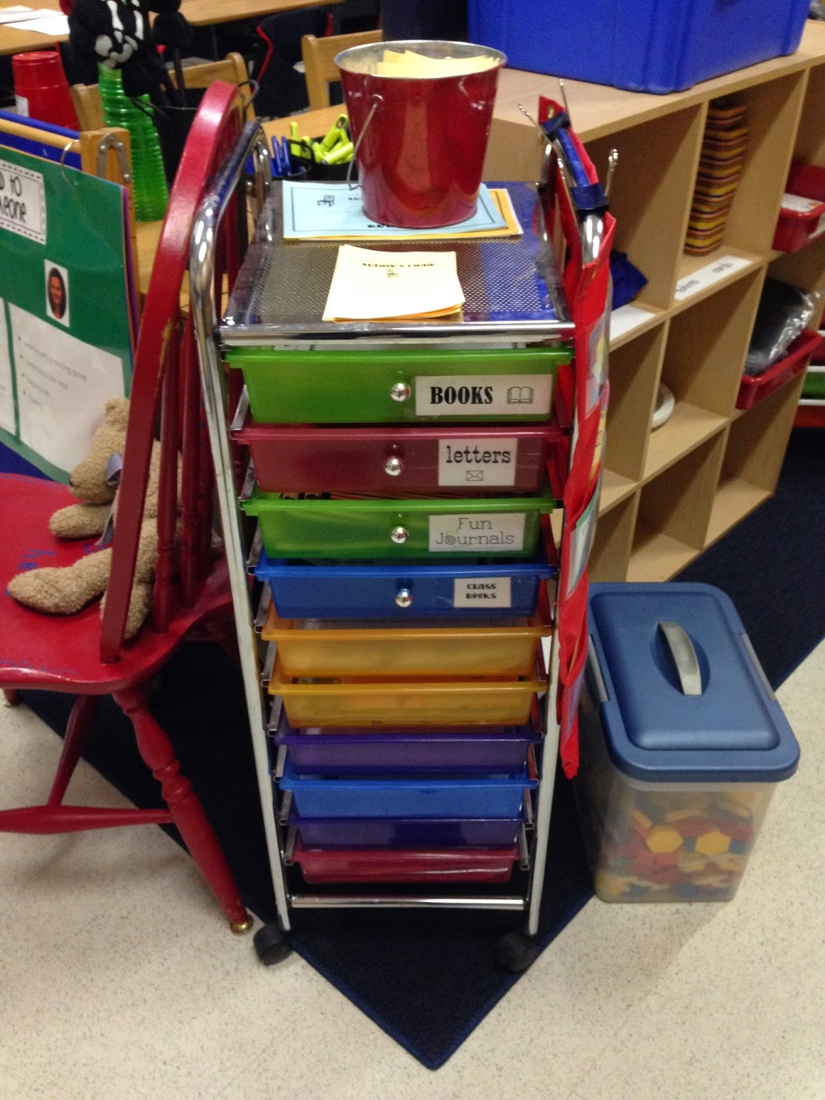 Guest blog post from Jaime at The First Grade Bloom who shares with us some Classroom Cart Organization tips!