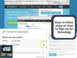 Easy to follow steps on How to sign up for Schoology