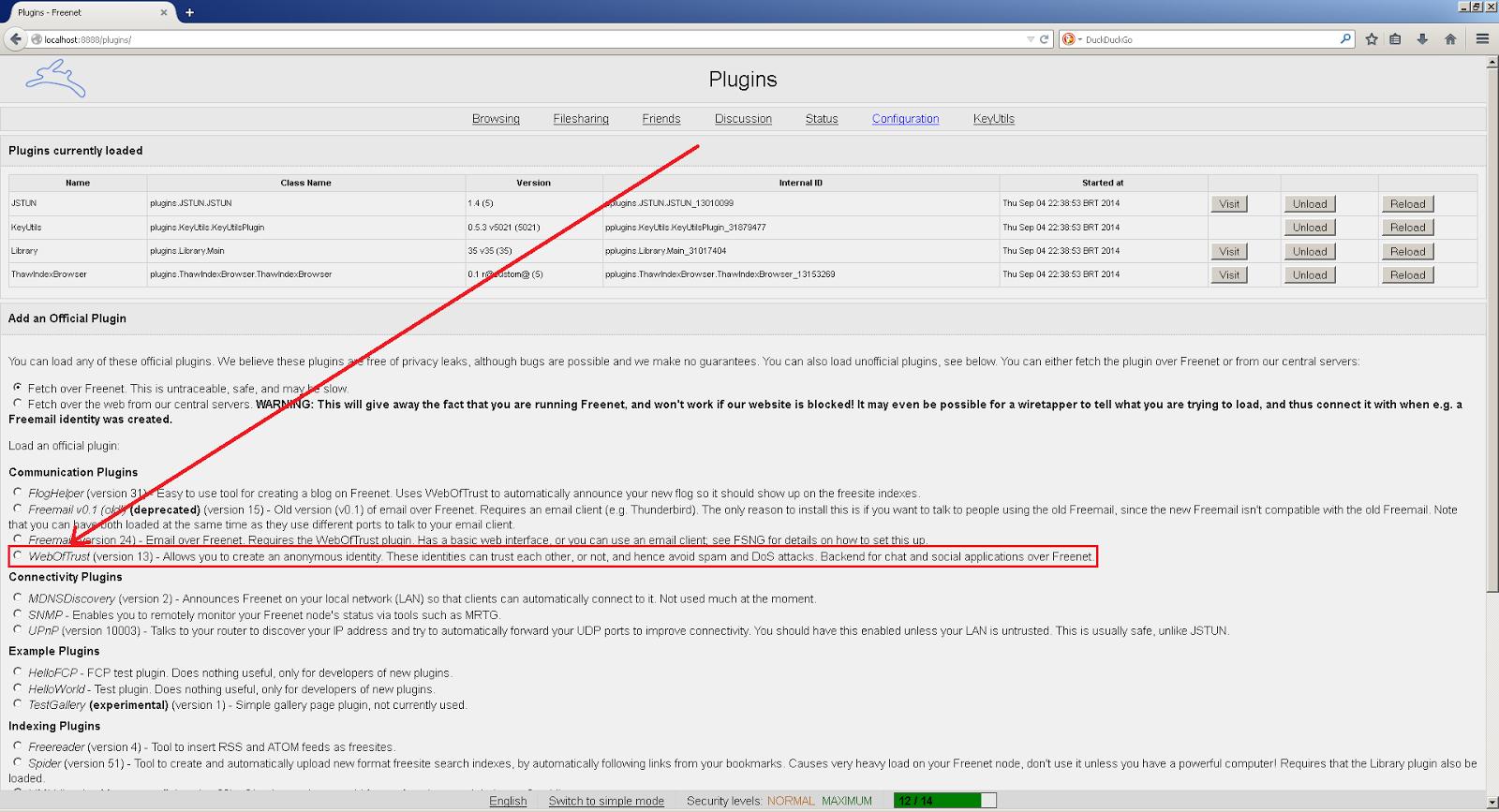 Plugins da Freenet