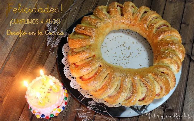 Corona salada 4º Aniversario Desafío en la Cocina