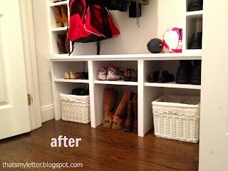 mudroom closet floor area after