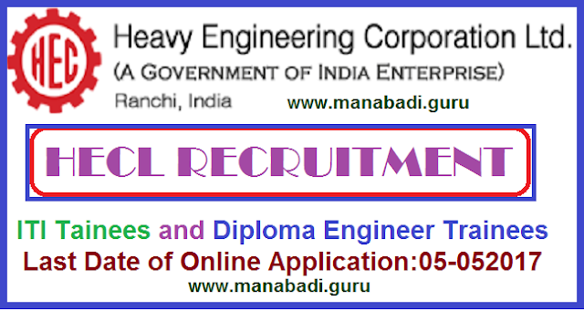 Engineer jobs,HECL Recruitment, ITI Trainees jobs,Latest jobs