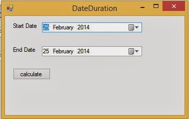 Calculate duration between two dates in c# programming
