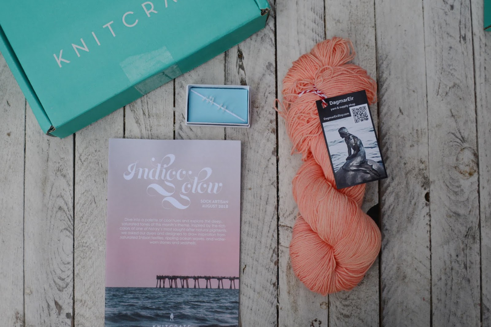 august knitcrate - a Friend to knit with