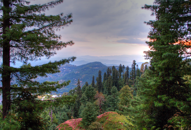 Kashmir Point is a famous and most visited mountain view point in Murree