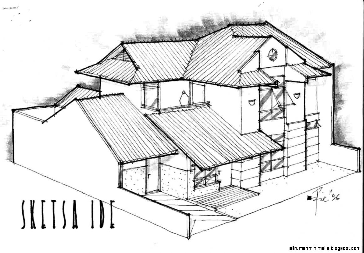Sketsa Gambar Rumah