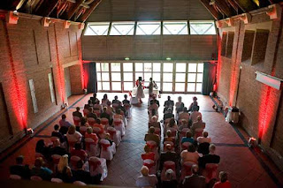 Avoncroft Wedding Ceremony Lighting Wirless uplighting