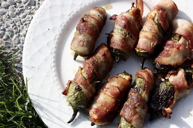 Grilled Stuffed Jalapeno Chiles