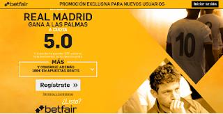 betfair supercuota 5 Real Madrid gana Las Palmas Liga 24 septiembre
