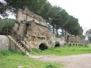 The Aqua Marcia aqueduct passes through the Tuscolano quarter of Rome, along with several others