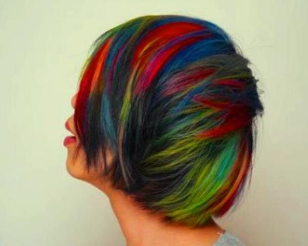 Warna Rambut Pelangi
