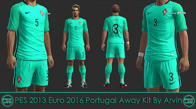 PES 2013 Euro 2016 Portugal Away Kit By Arvin
