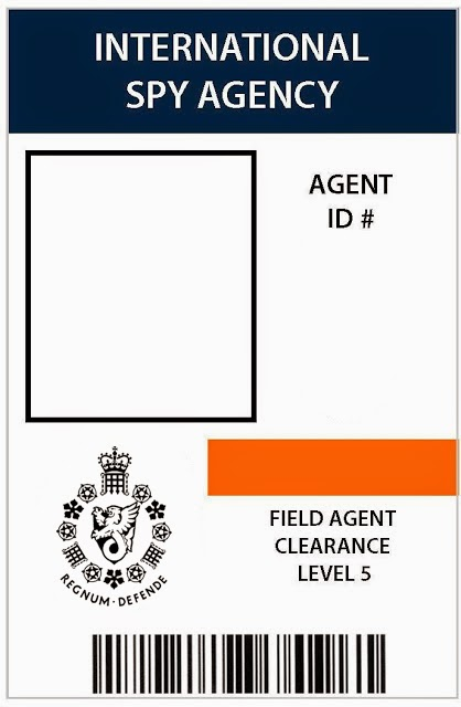 I do on a dime 007 spy patry 7th birthday for Spy id card template