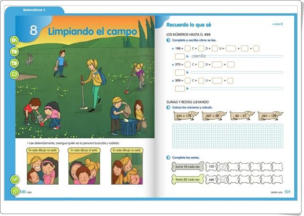 http://primerodecarlos.com/SEGUNDO_PRIMARIA/SANTILLANA/Libro_Media_Santillana_matematicas_segundo/index.html