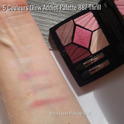 Dior 5 Couleurs Eyeshadow Palette 887 Thrill Swatches