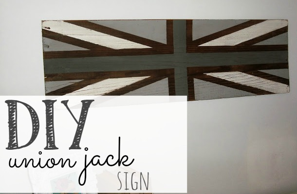 DIY Union Jack Sign