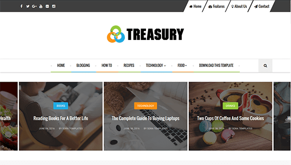 Template Treasury Seo Responsive