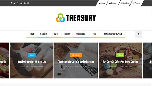 Template Treasury Seo Responsive Untuk Blogger