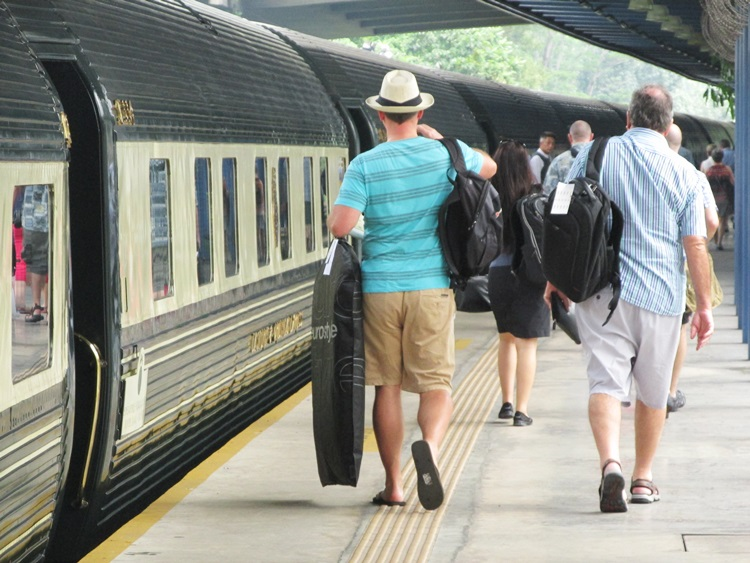 Boarding the Eastern & Oriental Express