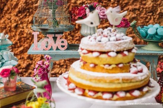 Fica, vai ter bolo!: Naked Cake ! Bolos desconstruídos