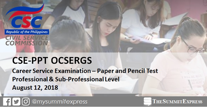 Online Verification of Rating OCSERGS: August 2018 Civil Service Exam CSE-PPT