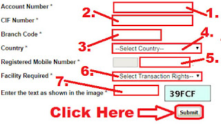 how to activate username password of sbi internet banking