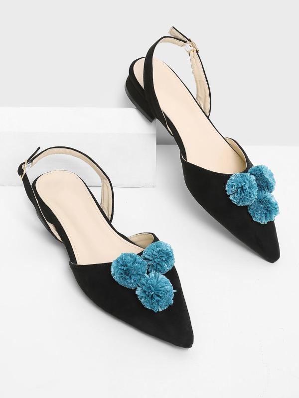 pompon shoes