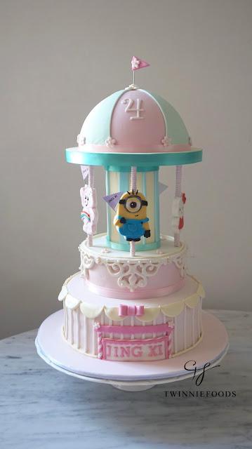 Carousel Cake ( Minion, Hello Kitty, Peppa Pig, Care Bear)