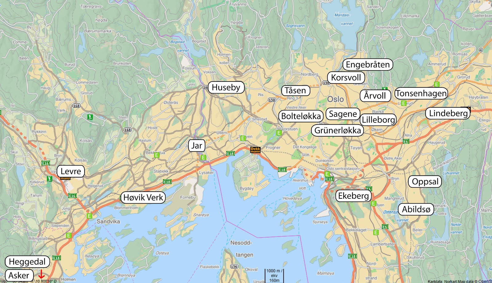 kart av oslo Loppislife: Kart over helgens loppiser kart av oslo