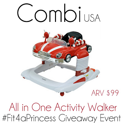 Combi All-in-One Activity Walker Giveaway! #Fit4aPrincess