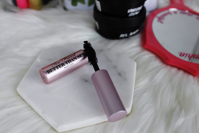 travelling, travel friendly, makeup, beauty, tips, guide, how to, too faced, mascara, better than sex