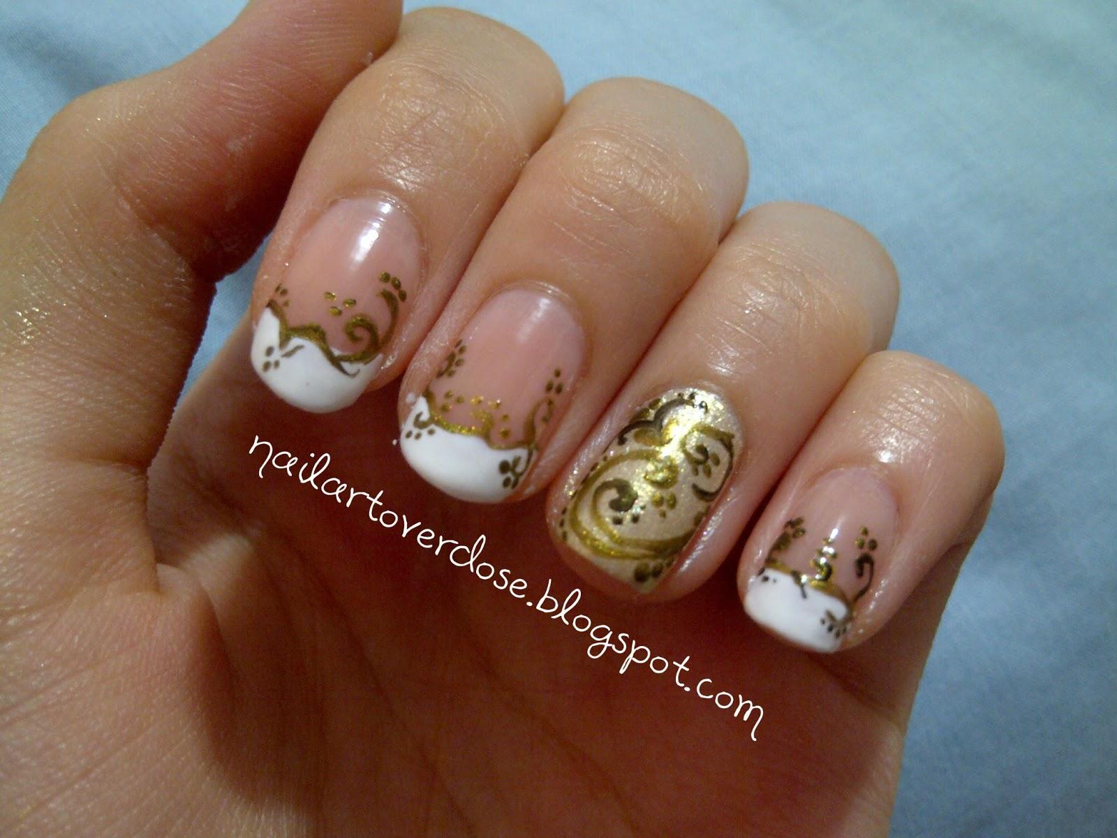 Free Amazing Styles: Gold Nail Art Designs