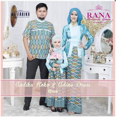 Model Baju Gamis Pesta Suami Istri dan Anak Terbaru