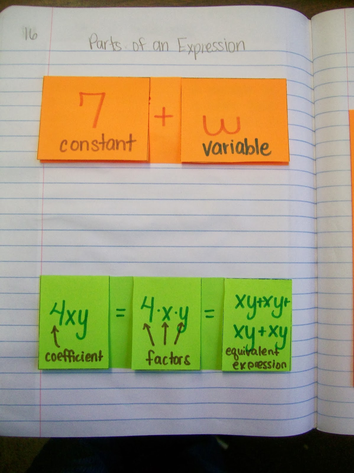 Math Love Parts Of An Expression And Translating