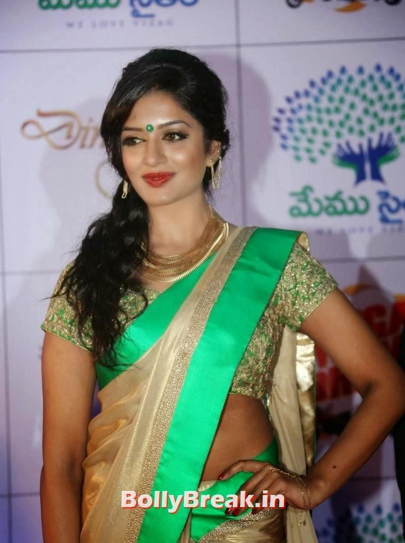 Vimala Raman In Green Saree Telugu Cinema News Blouse White Download