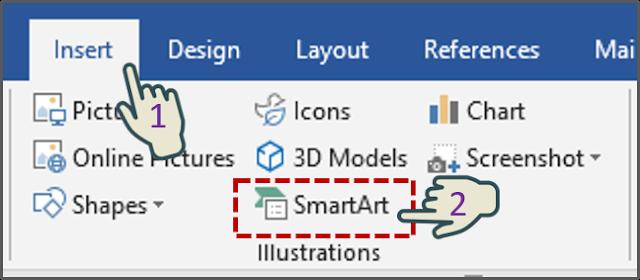 Menyisipkan Grafik SmartArt