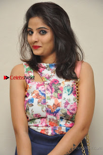 Kannada Actress Mahi Rajput Pos in Floral Printed Blouse at Premam Short Film Preview Press Meet  0002.jpg