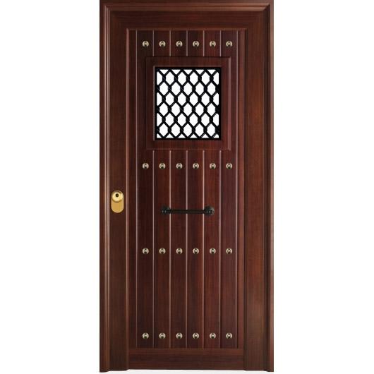 Puertas rusticas en aluminio for Puertas de madera exterior modernas precios