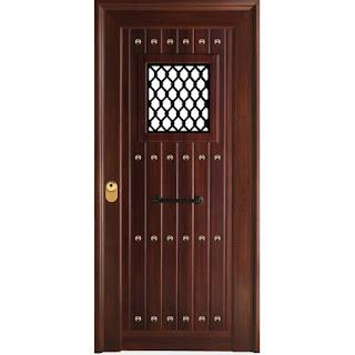 Puerta rustica Andalucia con vidrio