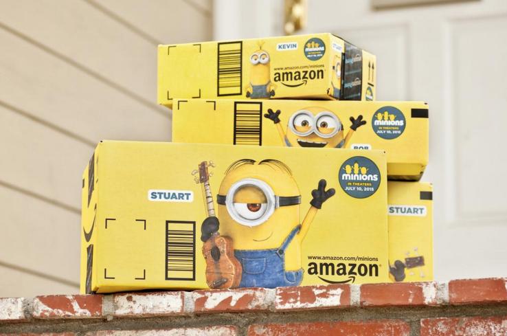 Amazon把電影小小兵帶進顧客家門,把紙箱化為最佳行銷工具