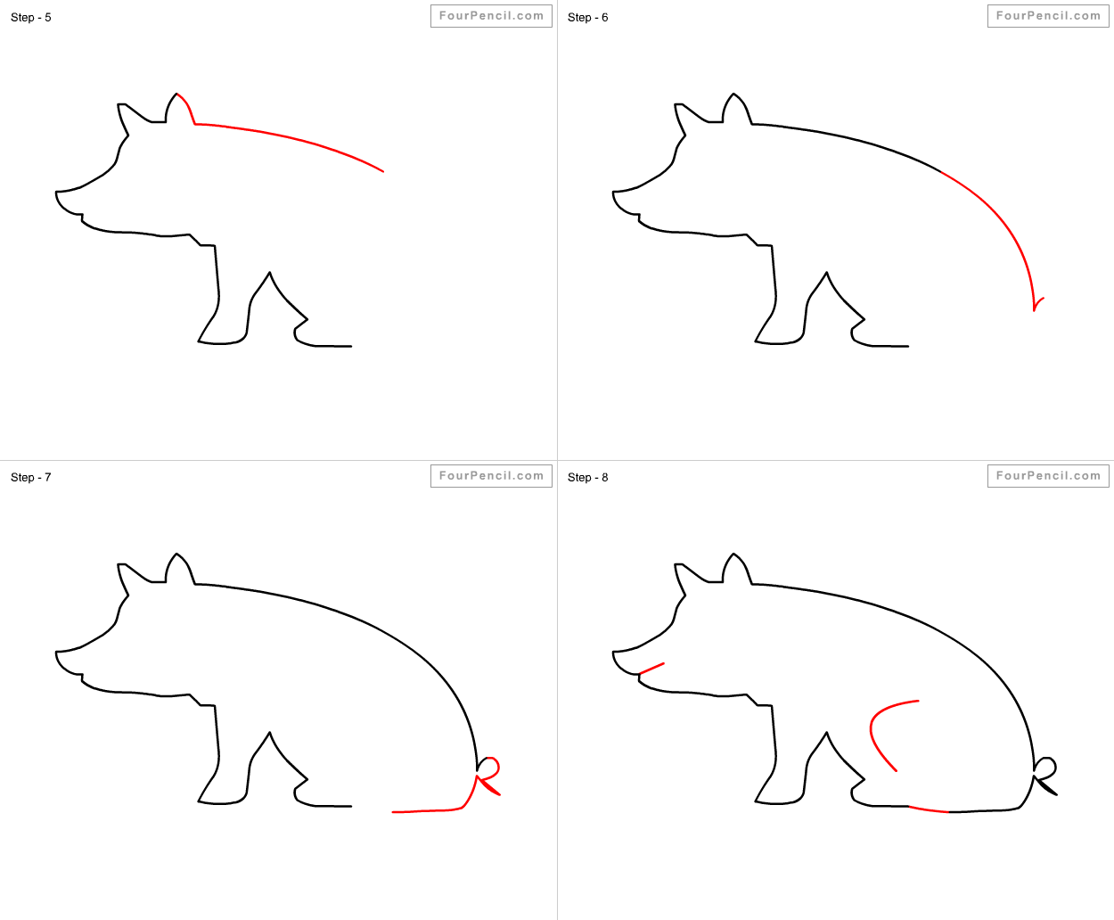 Fpencil: How to draw Pig for kids step by step   1250 x 1032 png 35kB