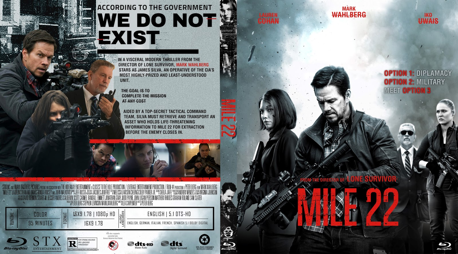 Mile 22 Bluray Cover Cover Addict Free Dvd Bluray Covers And Movie Posters