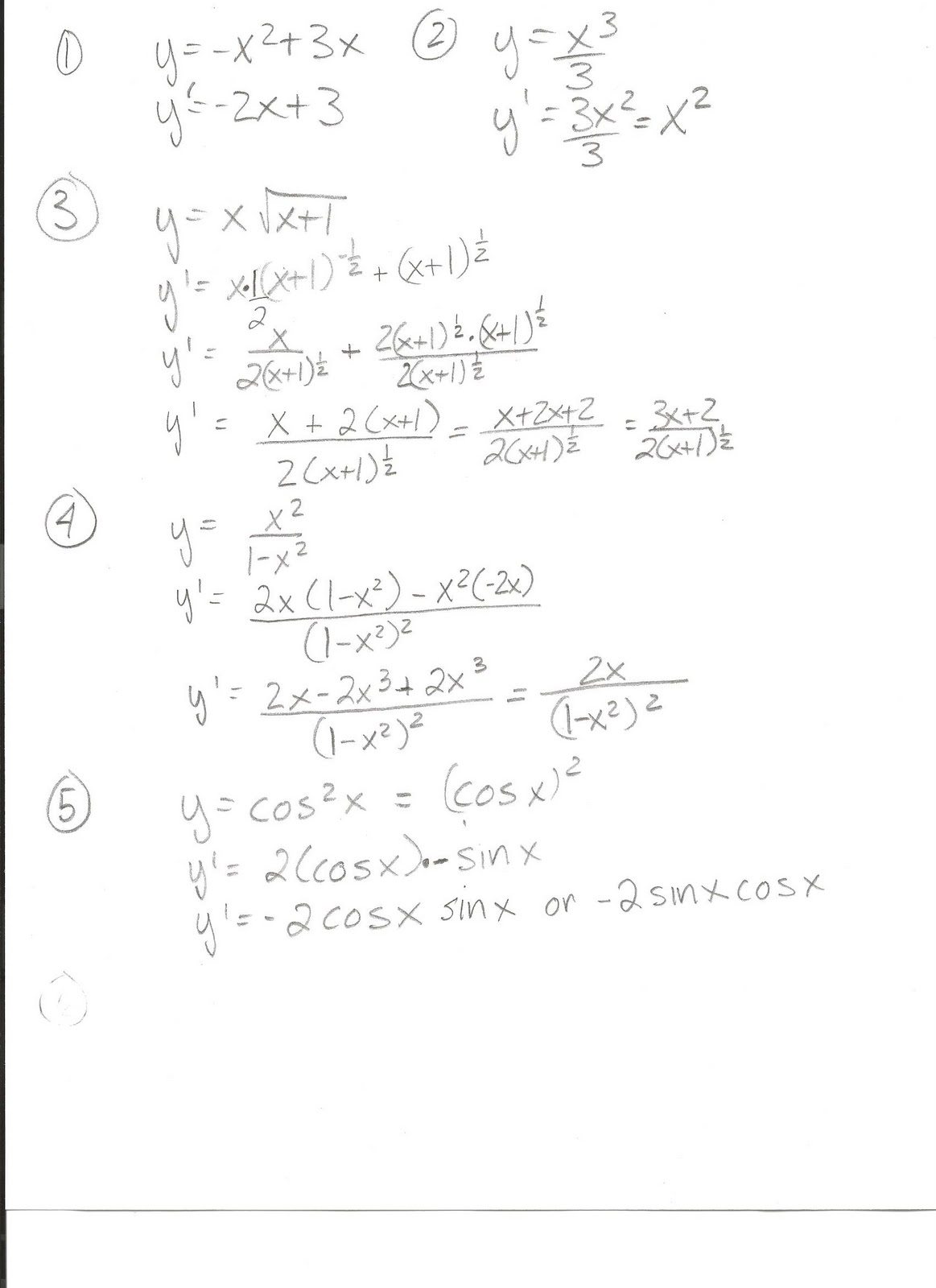 Glencoe Algebra 1 Chapter 5 Practice Test Answers