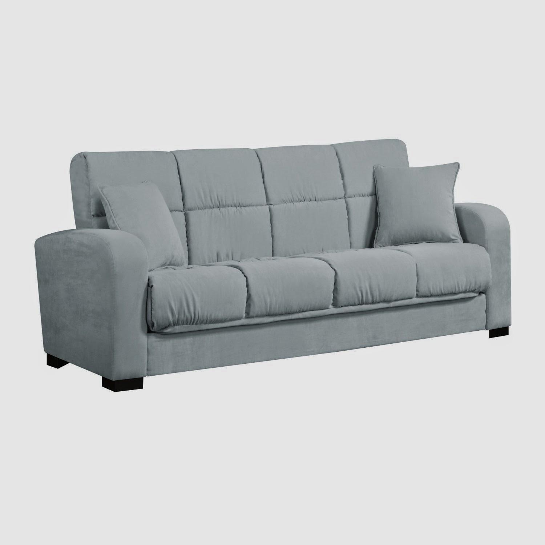 Houseofauracom Blue Microfiber Sofa Mid Century