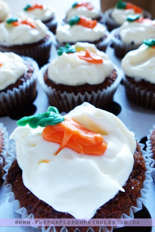 [Orange & Yellow 40th Birthday Party] Carrot Cupcakes!