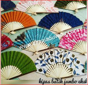 doorgift DIY kipas batik