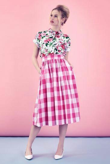 Floral skirt wit midi skirt