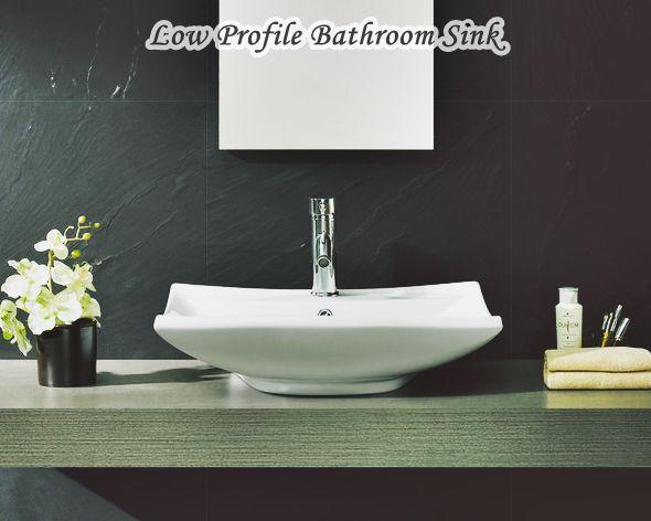 Low Profile Bathroom Sink Ideas