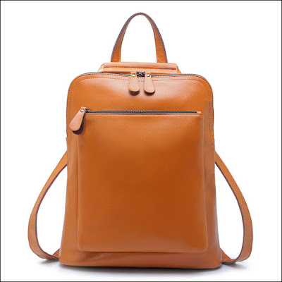 Womens Leather Laptop Backpack